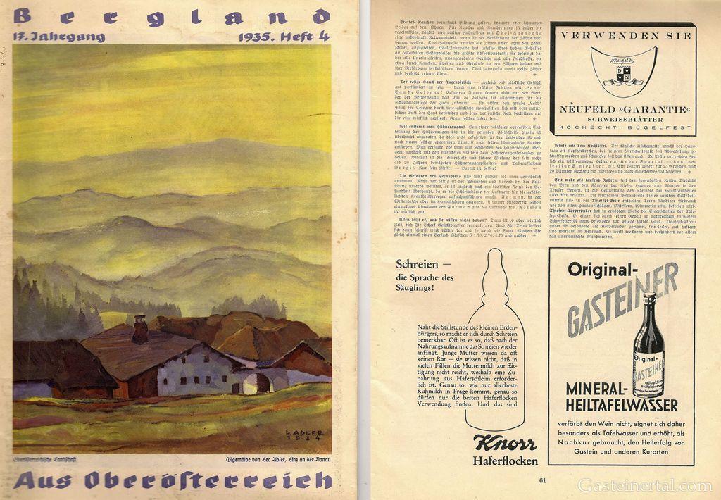 Gasteinerwasser Werbung 1935