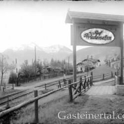 Haltestelle Bad Hofgastein 1927   (c) Österr. Nationalbibliothek