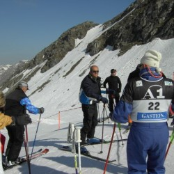 Am Start zum Skirennen