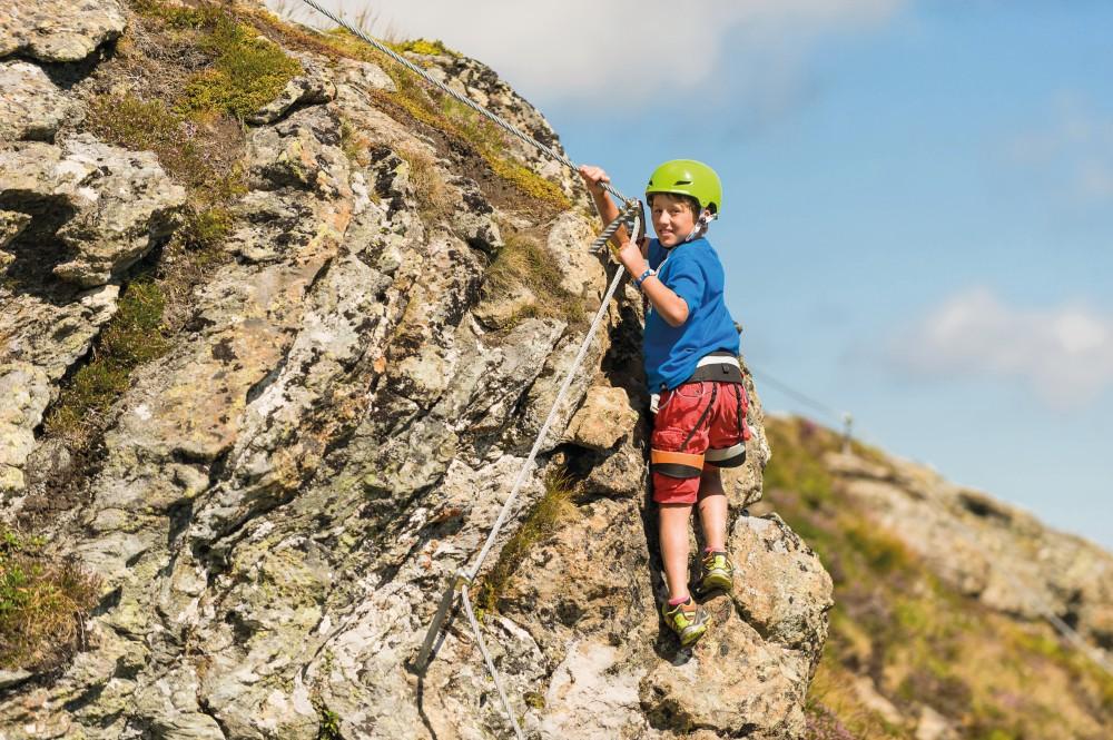 Klettersteigset Verleih Salzburg : Übungsklettersteig schlossalm bad hofgastein