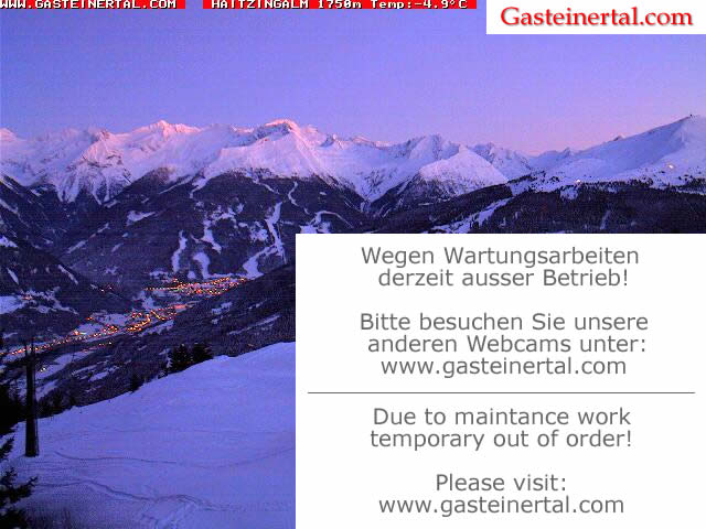 Webcam <br><span> bad hofgastein - schlossalm - haitzingalm</span>